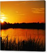 Sunset On The Alafia Canvas Print