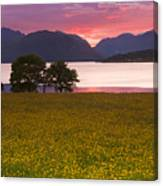 Sunset On The Ardgour Mountains Canvas Print