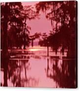 Sunset On The Bayou Atchafalaya Basin Louisiana Canvas Print