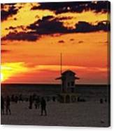 Sunset On The Clearwater Beach Canvas Print