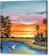 Sunset On The Glades Canvas Print