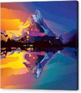 Sunset On The Mountains Canvas Print