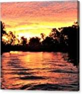 Sunset On The Murray River Canvas Print
