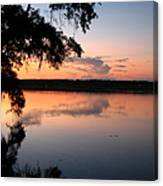 Sunset On The Ogeechee Canvas Print