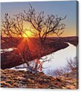 Sunset On The Osage River Canvas Print