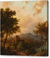 Sunset On The Rhine Canvas Print