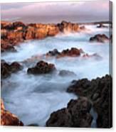 Sunset On The Rugged Coastline Of Kerry Ireland Canvas Print