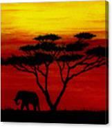 Sunset On The Serengeti Canvas Print