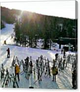 Sunset On The Slopes Canvas Print