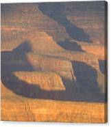 Sunset On The South Rim Of The Canyon Canvas Print