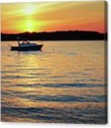 Sunset On The Strand Canvas Print