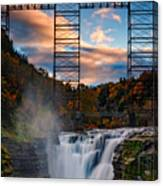 Sunset On The Upper Falls Canvas Print
