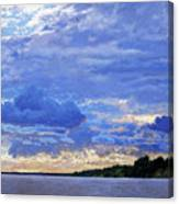 Sunset On The Volga. Gorodets Canvas Print