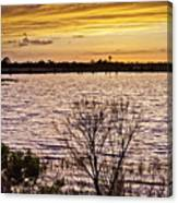 Sunset On The Wetlands Canvas Print