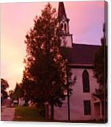 Sunset On The Whitefield Methodist Church Canvas Print