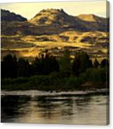 Sunset On The Yellowstone Canvas Print