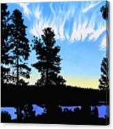 Sunset On Wickiup Canvas Print