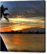 Sunset Or Sunrise Canvas Print