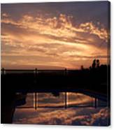 Sunset Over A Pool Canvas Print