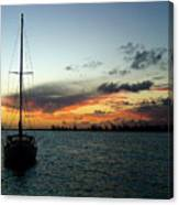 Sunset Over Anegada Canvas Print