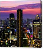 Sunset Over Bangkok Canvas Print