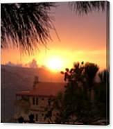 Sunset Over Bcharre, Lebanon Canvas Print