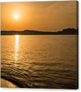 Sunset Over Calvi In Balagne Region Of Corsica Canvas Print