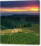 Sunset Over Central Oregon 4 Canvas Print