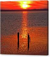 Sunset Over Currituck Sound Canvas Print