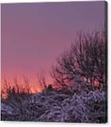 Sunset Over Fresh Snow Canvas Print