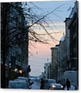 Sunset Over Helsinki Canvas Print