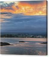 Sunset Over Hilo Canvas Print
