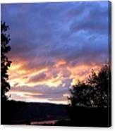 Sunset Over Kalamalka Canvas Print