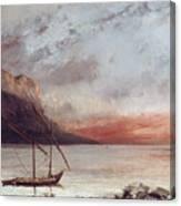 Sunset Over Lake Leman Canvas Print