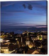 Sunset Over Lausanne   Canvas Print