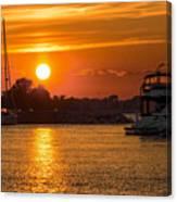 Sunset Over Marina Canvas Print