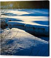 Sunset Over Melting Ice Canvas Print