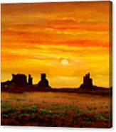 Sunset Over Monument Valley Canvas Print
