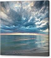 Sunset Over Naples Beach Canvas Print