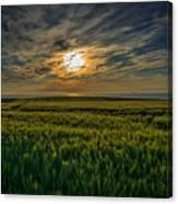 Sunset Over North Pas De Calais In France Canvas Print