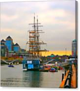 Sunset Over River  Liffey 2 Canvas Print
