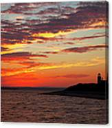 Sunset Over Sandy Neck Lighthouse Canvas Print