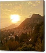 Sunset Over Sicily Canvas Print