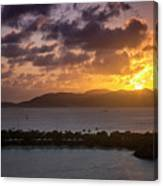 Sunset Over St. Thomas Canvas Print