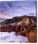 Sunset Over The American River Canvas Print