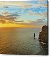 sunset over the Aran Islands Canvas Print