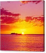 Sunset Over The, Atlantic Ocean, Cat Canvas Print