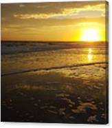 Sunset Over The Beach Canvas Print