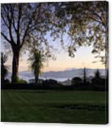 Sunset Over The Firth Of Forth From Inverkeithing Canvas Print