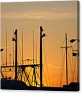 Sunset Over The Fleet Canvas Print